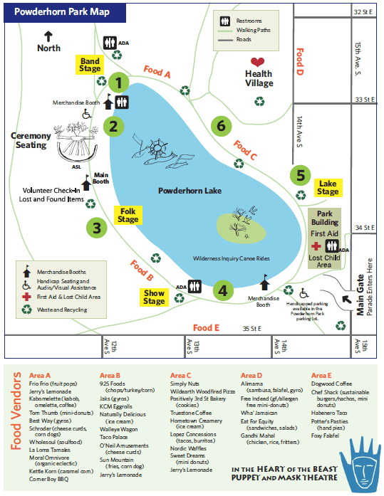 2017 MayDay park map