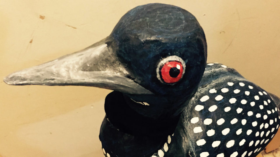 Loon puppet by Julie Boada