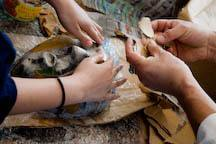 Making a mask with papier mache
