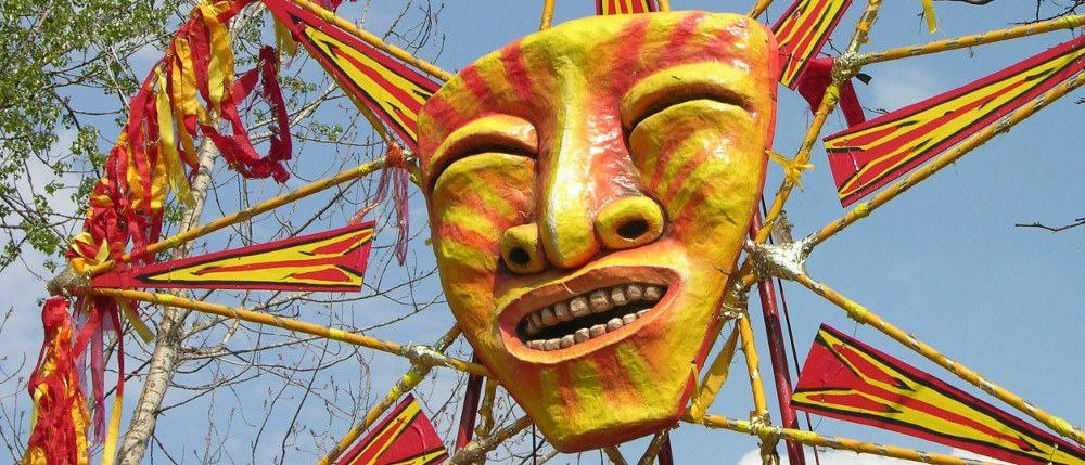 MayDay sun puppet, photo by Alan Wilfhart